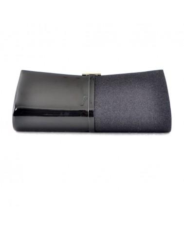 MUSANI borsa pochette donna vernice nera