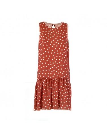 KARTIKA polka-dot dress woman
