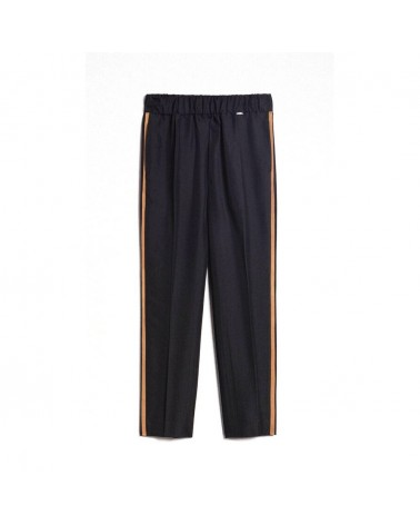 Twinset women's Pants Le Coeur a cigarette with contrasting bands