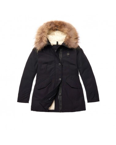 Blauer giubbotto donna Parka in Taslan light Russel